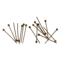 Lot de 50 clous jonction à tête boule   20x0.5mm, bronze