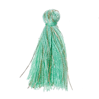Pompon en Coton vert green de 25.0mm