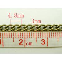 Un mètre de chaîne maille cheval couleur bronze 3x4mm