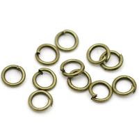 150 Anneaux brisés 5mm métal couleur bronze