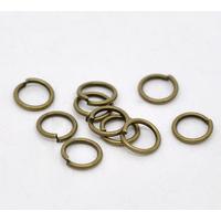 Lot de 100 Anneaux brisés 7mm métal couleur bronze