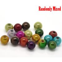 Lot de 35 perles  magiques miracle 6mm couleurs mélangées