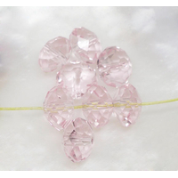 Lot de 12 perles en cristal rondelle 8x6 mm rose pale poudré
