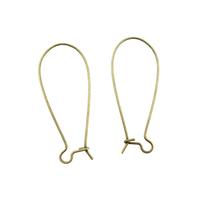 Lot de 10 crochets Supports Boucles d'oreilles dormeuse,  métal bronze