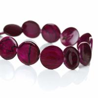 Lot de 8 Perles nacres palet 14mm Pourpre Rayées