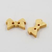 Lot de 6 boutons noeud papillon en bois 2 trous 17x10x3 mm