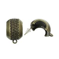 Lot de 2 supports (1paire) clous d'oreilles  bronze antique 22x 14mm