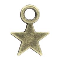 Lot de 25 Breloques petite étoile en métal couleur bronze 10x7mm