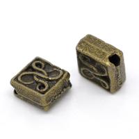 Lot de 22 Perles losange métal couleur bronze 5x5mm