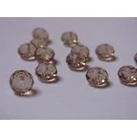 Lot de 14 Perles en cristal rondelle 8x6 mm champagne