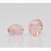 Lot de 20 jolies petites perles en cristal à facettes saumoné