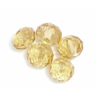 Lot de 12 Perles en cristal rondelle  6 mm