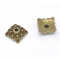 Lot de 16 Coupelles carrées 8mm en métal couleur bronze