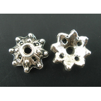 Lot de 16 Coupelles en métal argentés 8x3mm