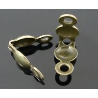 Lot de 100 caches noeuds en métal bronze 8x4mm
