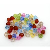 Lot de 100 Perles toupie acrylique 5x5mm multicolore