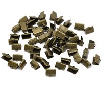Lot de 26 Attaches Embouts Griffes Rubans bronze 10x8mm