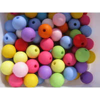 Lot de 20 perles fluo 10mm shamballa en acrylique