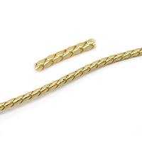 A la coupe, 1 m de cordon en cuir synthétique tressé OR 5 mm