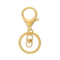 Lot de 1 Porte-clés Forme Mousqueton Doré 6.9cm x 3cm