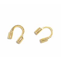 Lot de 24 protège câble pour fil câblé, métal doré 5mm