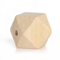 Lot de 4 perles en Bois de Cyprès Couleur Naturelle forme polygone 16mm x 16mm