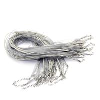 Tour de cou collier en organza et coton ciré gris