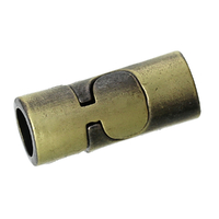 Un Fermoir Tube aimanté  Bronze Antique 22mm x 9mm