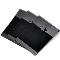 Lot de 10 présentoirs ou supports pour boucles d'oreilles, en plastique noir
