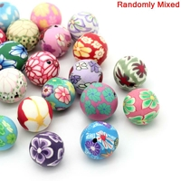 Lot de 10 perles fimo en mélange 6-8-12-13mm