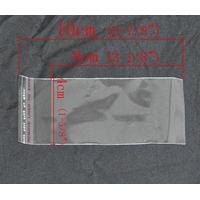 Lot de 50 sachets emballages  10x4cm transparent cristal autocollantspour perles