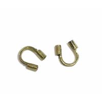 Lot de 24 protège-câble pour fil câblé, métal bronze 5mm