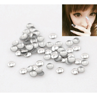 Lot de 100 Strass rond, bulle thermocollant argent 3mm