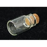 Lot de 3 mini fioles en verre transparent 18x10mm forme bouteille