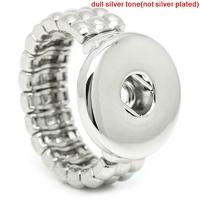 Un support de bague ajustable élastique pour bouton pression 18mm/20mm
