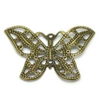 Lot de 16 connecteurs papillon filigrane bronze 3.1x2.2cm