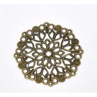 Lot de 5 estampes rondes bronze de 35 mm de diamètre