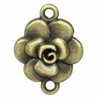 Lot de 5 fleurs de bijoux   Bronze antique 20.0mm x 15.0mm