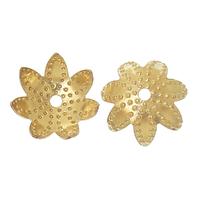 Lot de 4 Coupelles Forme Fleur Couleur Laiton doré 9.0mm x 9.0mmd