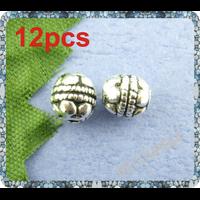 Perles bali en métal argenté 5x5mm Lot de 12