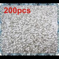 Perles à écraser en métal argenté 2mm Lot de 200