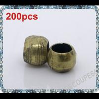 Perles à écraser 2mm couleur bronze Lot de 200