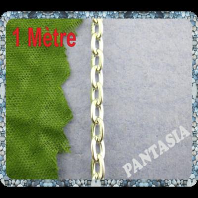 1 mètre de chaine en métal argenté 3x5mm