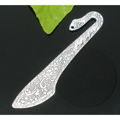 Marque -pages en métal argenté vieilli de 81 mm