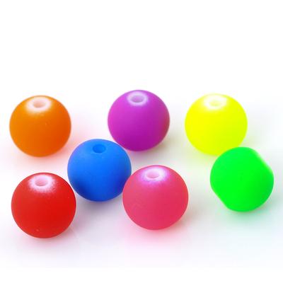 Lot de 50 perles fluo 8mm  shamballa  en acrylique PA23