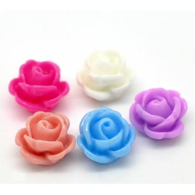 Lot de 10 petites fleurs en résine couleur pastel Embellissement cabochons camée 10mm