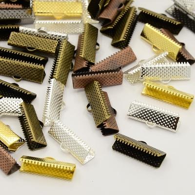 Lots de 16 Attaches embout griffe  ruban   mixte, couleur mélangée, 25x8x5 mm