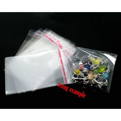 Lot de 50 sachets emballages transparent cristal autocollants 6x4cm pour perles