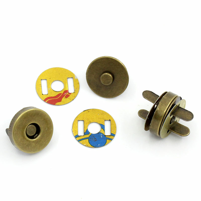 Lot de 5 fermoirs magnétiques avec aimant 14*9mm couleur bronze
