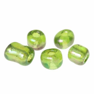 20g de perles de rocailles en verre 4mm, vert clair  transparent